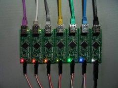 七色のMCF52233付録基板