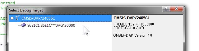 CMSIS-DAPの検出