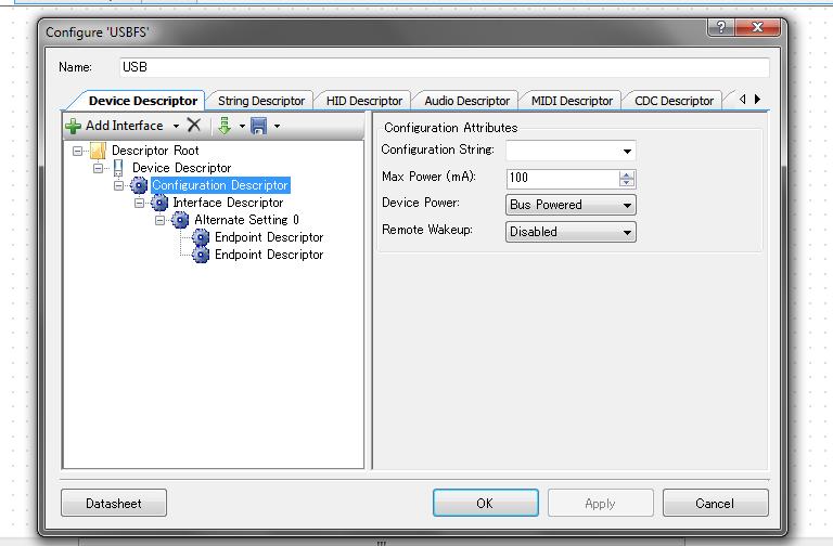 Configuration Descriptor ノード