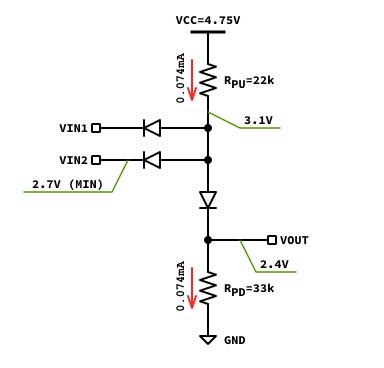 論理1出力時のバイアス電流